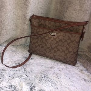 Coach Purse - Brown and Light Brown C Design